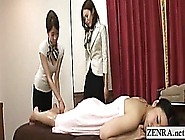 Subtitled Japanese Lesbian Butt Oil Massage Training