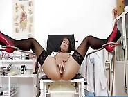 Spanish Nurse Ferrara Gomez Fingers Herself
