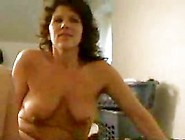 Mature Brunette With Small Saggy Tits Strips And Gets Fucked