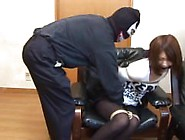 Young Japanese Girl Left Tied Up And Gagged