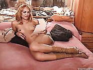 Fair Haired Filthy Milf In Brown Boots Gets Fucked By Her Fat Bf