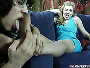 Ninette Gives Harry A Sexy Footjob And Then He Plugs Her Wet Hol