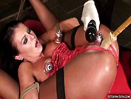 Tied,  Pumped,  And Forced To Cum
