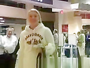 Teen Flashes In Airport