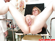 Blond Mom Wears Glasses And Get Milky Enema