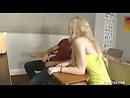 School Slut Busts Nuts By Club Tug