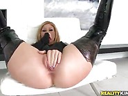 Curvy Mature Inside Dirty Leather Suit Is Screwing Huge