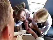 Young Schoolgirls In Pigtails Suck And Fuck The Bus Driver Pov S