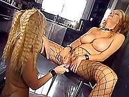 Naughty Lesbian Babes With Natural Tits Masturbates With Numerou