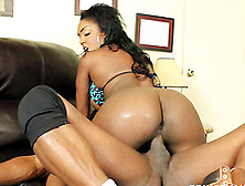 Hot Brunette Chick Is Great At Making A Black Cock Hard