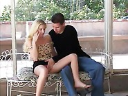Gorgeous Blonde Is Passed Around By Four Guys
