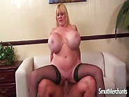 Blonde Mature Slut With Huge Boobs Gets Fucked In Her Fat Shaved