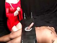 Blonde Femdom Cock Milking Sub