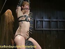 Redhead Slave Gets Suspended And Tortured