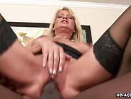 Stunning Mature Lady Rides A Large Black Dong