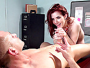 Redhead Slut Ember Stone Blows And Gets Her Hairy Cunt Drilled H