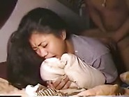 Philippino Girl Cries Into Her Pillow During Her First Anal