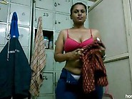 Chubby Indian Girl In The Changing Room