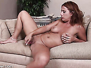 Naked Lady With A Little Pink Vibrator For Her Clit