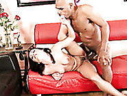 Voracious Brunette Slut Andrea Kelly Rides Staff Penis Ardently
