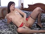Stocking Clad Beauty Masturbating