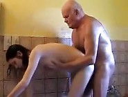 Nastka Entertains With Grandfather