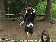 Picnic In The Park Leads To A Threeway Fuck