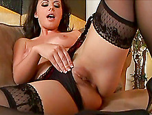 Pretty Brunette Penny Flame Pokes A Dildo In Her Pussy