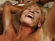 Mature Blonde With Huge Silicone Tits Wearing Black High Heels F