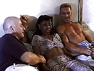 Three White Buff Guys Gang Bang One Curvy Ebony Prostitute