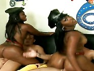 Lusty Black Whores Mia And Pleasure With Big Bouncing Asses And