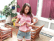 Erotic Teen Solo Model Dildo Banging Twat In The Floor Outdoor
