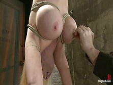 Busty Candy Manson Suspended Upside Down