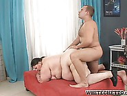 Dick-Slurping Fat Girl Gets Pounded From Behind By A Monster Coc