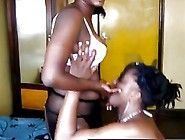 Well Shaped Lesbian From Africa Bends Over And Gets Pussy Toyed