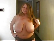 Horny Bbw Shows Her Massive Juggs