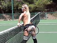 Dani Daniels - Topless Tennis Fun