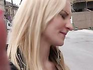 Blonde Slut Shows Her Big Boobs In Front Of Camera Indoor