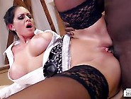 Busty German Milf Secretary Gets A Taste Of Bbc At The Office