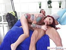 Milf With Tattoos Gets Anal Sex With A Man Inflated