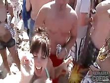 Drunk Spring Break Girls Flash Their Tits