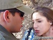 Police Academy And Mexican Patrol Latina Deepthroats On The Bord