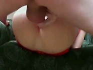 Anal Destruction With Red Stockings On