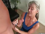 Horny Mature Loves To Jerk Off A Hard Dick