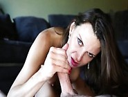 Kinky Brunette Mom With Big Breasts And Sexy Long Legs Gives A H