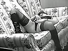 My Short-Haired Wife Enjoys Masturbating On A Sofa
