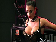 Bdsm Xxx Slave Boy Licks Mistresses Spit From The Cage Floor Bef