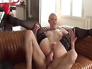 French Mature Lady In Stockings Gets Assfucked By Bearded Guy