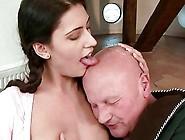 Beautiful Teen Brunette Loves Very Old Grandpa