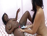 Ebony Spice And Sierra Lust Bang Each Other With Toys